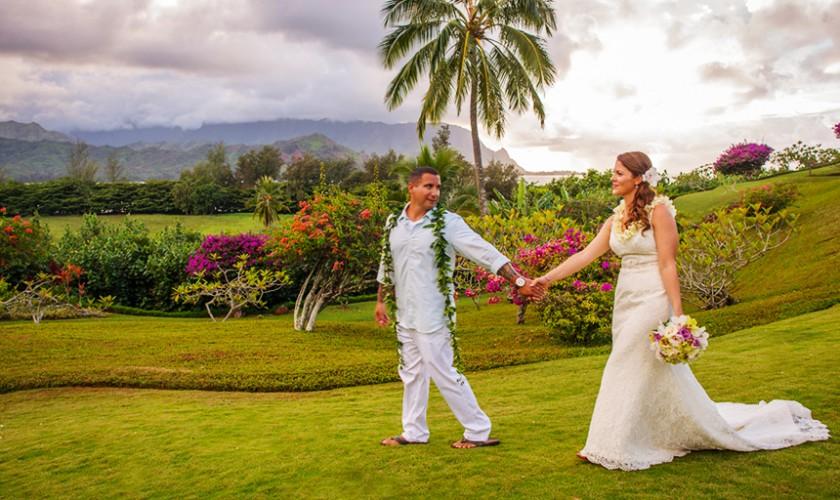 hanalei bay garden wedding