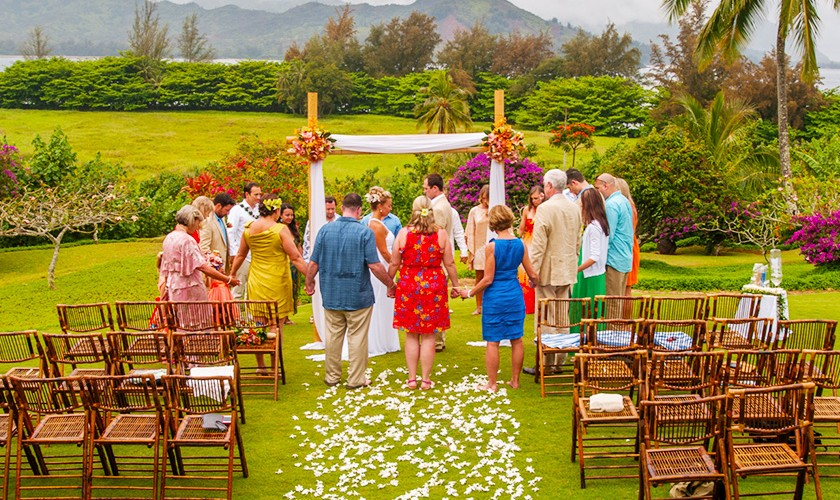 hanalei bay garden wedding