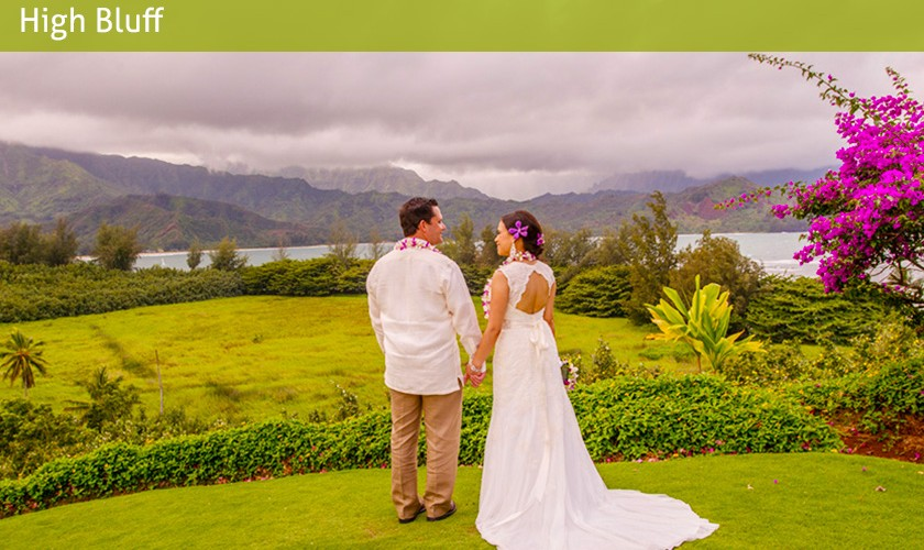 hanalei bay wedding walk